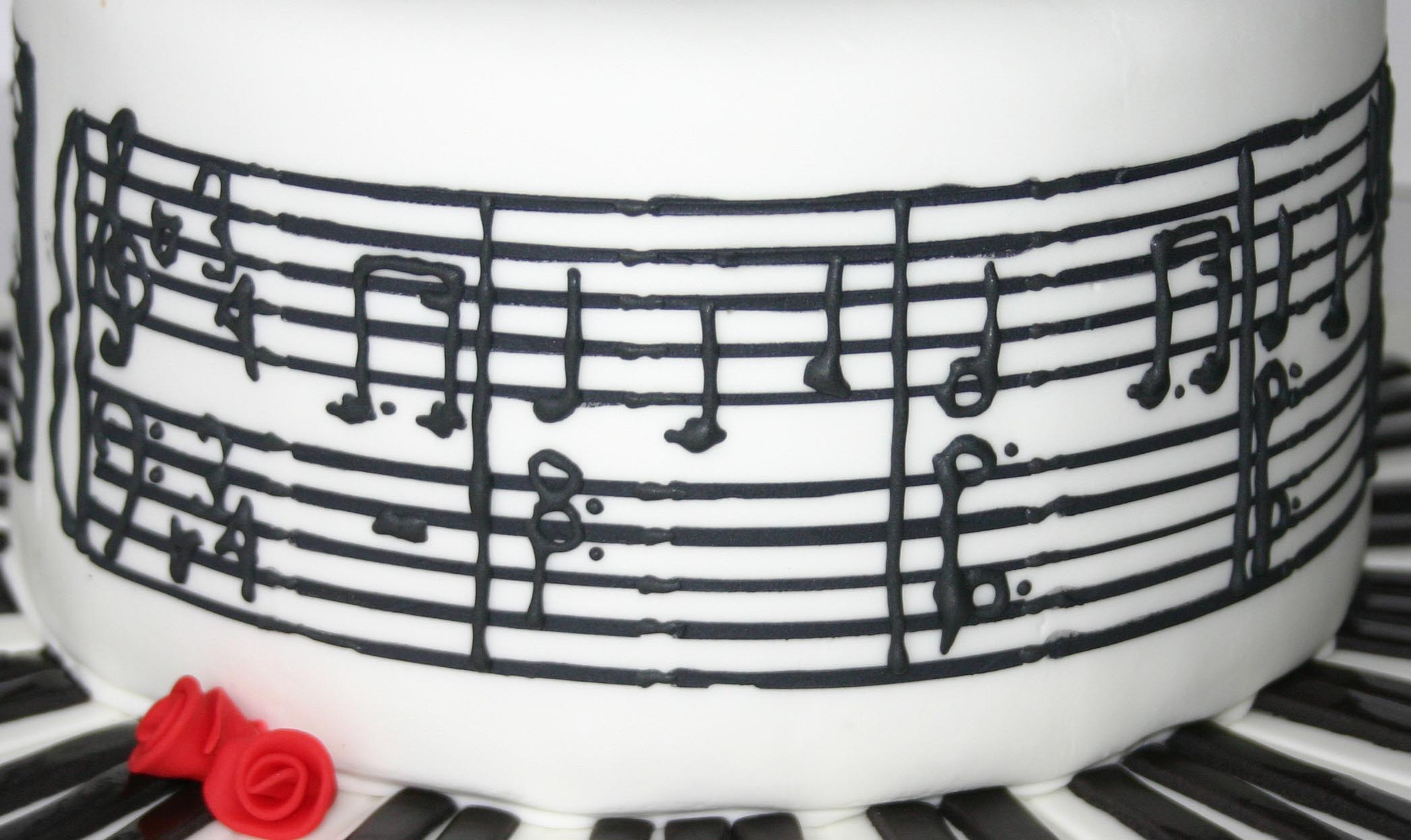 Musical note birthday cake recipes