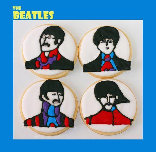 Beatles cookies color