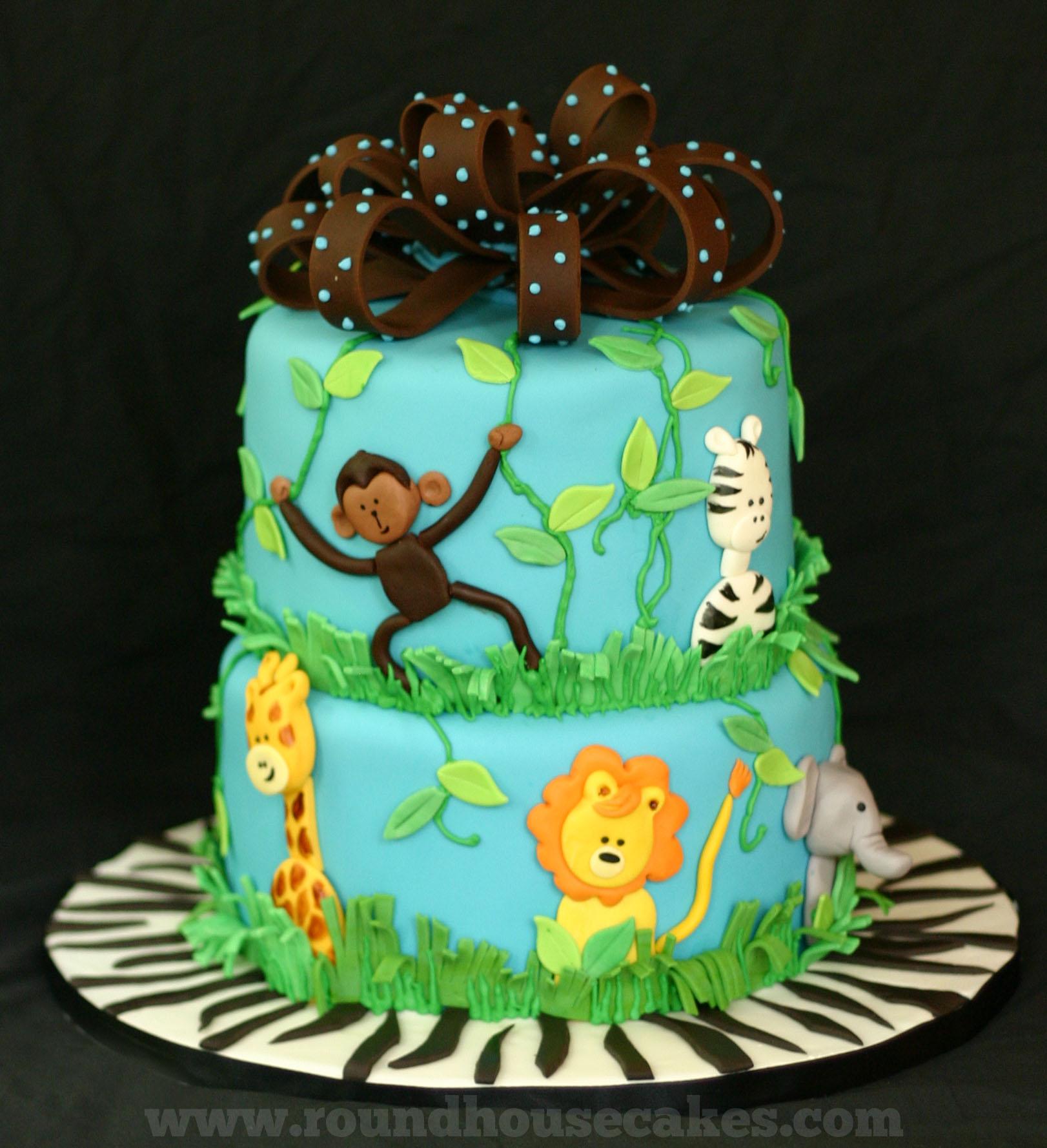 Jungle Babies Baby Shower Cake