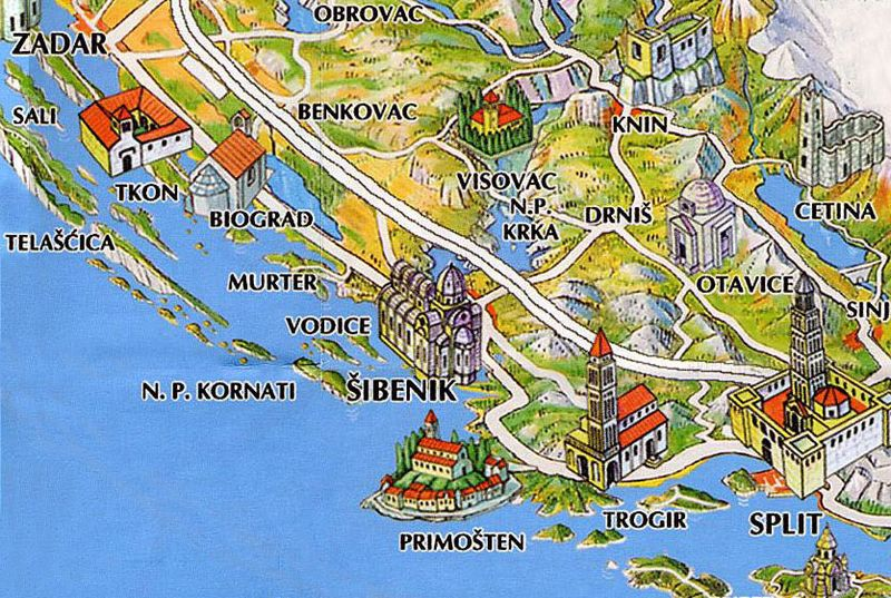 Sibenik-area-map